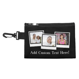 Personalized 3-Photo Snapshot Frames Custom Color Accessories Bags