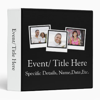 Personalized 3-Photo Snapshot Frames Custom Color Binder