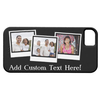 Personalized 3-Photo Snapshot Frames Custom Color iPhone 5 Cases