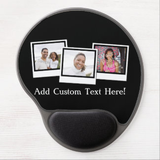 Personalized 3-Photo Snapshot Frames Custom Color Gel Mouse Pad