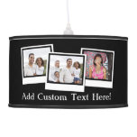 Personalized 3-Photo Snapshot Frames Custom Color Hanging Lamp