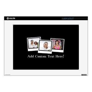 Personalized 3-Photo Snapshot Frames Custom Color Laptop Decals
