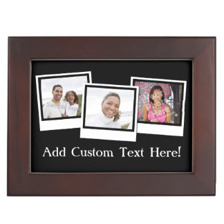 Personalized 3-Photo Snapshot Frames Custom Color Memory Box