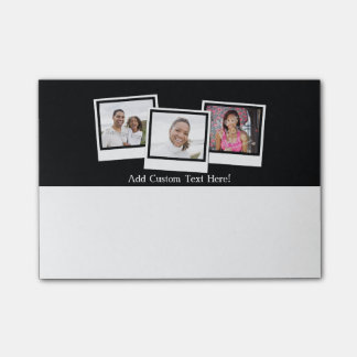 Personalized 3-Photo Snapshot Frames Custom Color Post-it® Notes