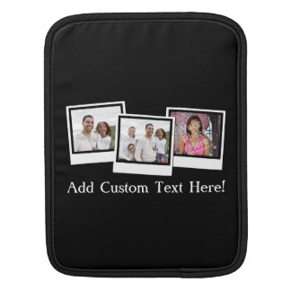 Personalized 3-Photo Snapshot Frames Custom Color Sleeve For iPads
