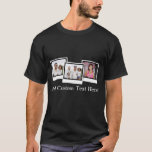 Personalized 3-Photo Snapshot Frames Custom Color T-Shirt