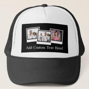 999693b0e17 Personalized 3-Photo Snapshot Frames Custom Color Trucker Hat