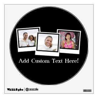 Personalized 3-Photo Snapshot Frames Custom Color Wall Skin