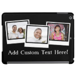Personalized 3-Photo Snapshot Retro Custom Color Cover For iPad Air