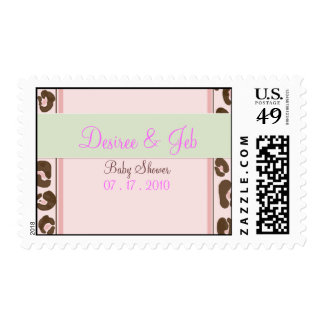 Personalized 3 Pink Leopard Postage