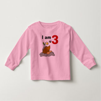personalized 3rd happy birthday kid ( mole & bee ) toddler t-shirt