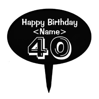 Personalized 40th Birthday Cake Topper Party