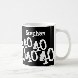 Personalized 40th Birthday Classic White Coffee Mug