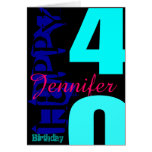 Personalized 40th Birthday POP Greeting Card