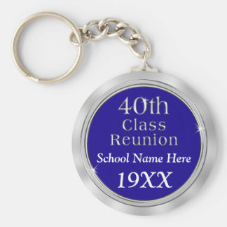 Personalized 40th Class Reunion Gifts, Your Colors Keychain