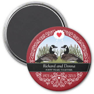 Personalized 40th Wedding Anniversary, Geese Magnet