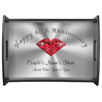 Personalized 40th Wedding Anniversary Gifts, Tray