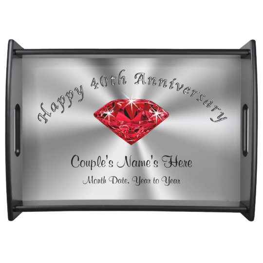 40th Wedding Anniversary Gift.Personalized 40th Wedding Anniversary Gifts Tray