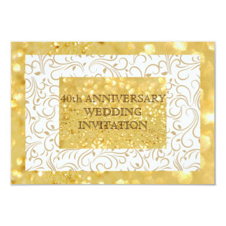 Personalized 40th Wedding Anniversary Invitation