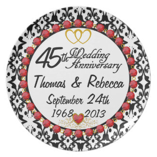 PERSONALIZED 45th Anniversary Display Plate
