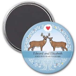 Personalized 45th Wedding Anniversary, Buck & Doe Magnet