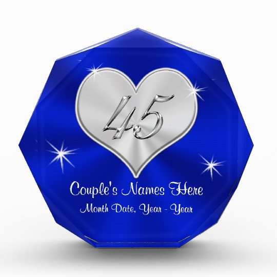 Personalized 45th Wedding Anniversary Gifts Zazzle