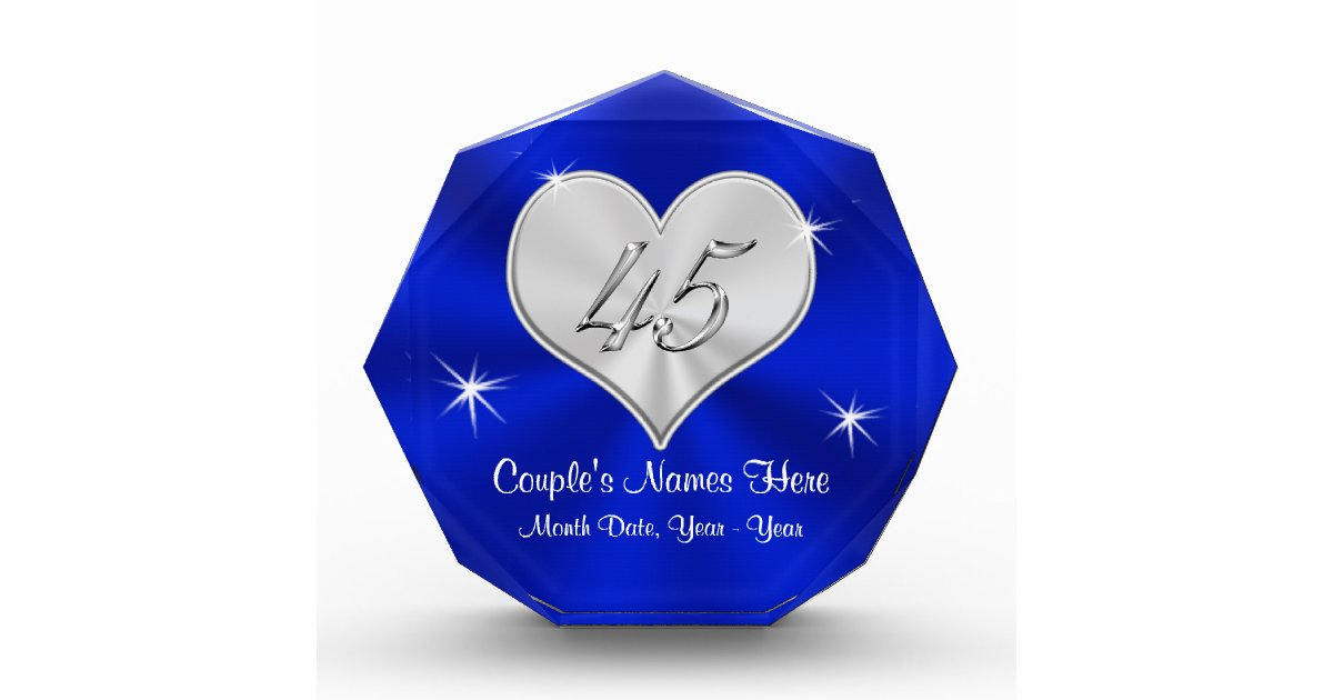 Gifts For 45th Wedding Anniversary: Personalized 45th Wedding Anniversary Gifts