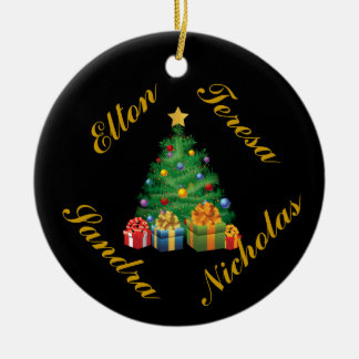 PERSONALIZED (4 NAMES) FAMILY ORNAMENT