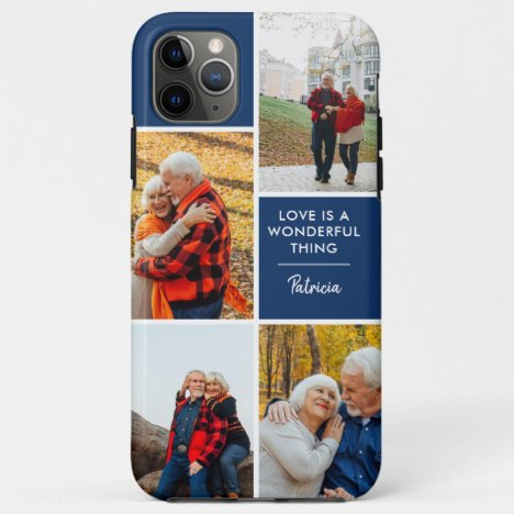 Personalized 4 Photo Love is a Wonderful Thing iPhone 11 Pro Max Case