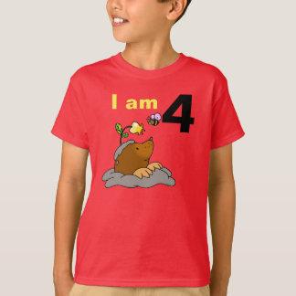 personalized 4th happy birthday kid ( mole & bee ) T-Shirt