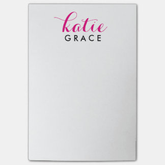 Personalized 4x6 Post-It Notes