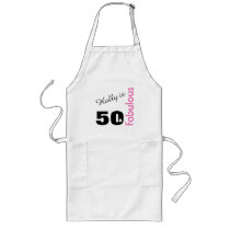Personalized 50 and Fabulous Themed 50th Birthday Long Apron