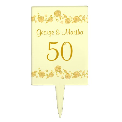 Personalised Anniversary Cake Images : Personalized 50th Anniversary Cake Topper Zazzle