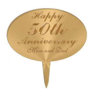 Personalized 50th Anniversary Cake Toppers