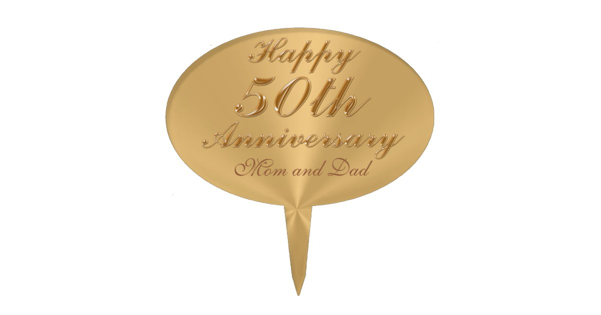 Personalized 50th Anniversary Cake Toppers | Zazzle.com