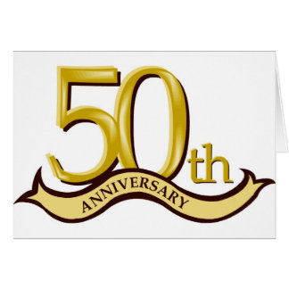 Personalized 50th Anniversary Gift Greeting Cards