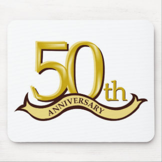 Personalized 50th Anniversary Gift Mouse Pad