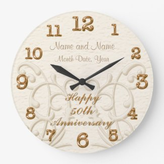 Personalized 50th Anniversary Gifts for Parents Wallclock