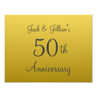 Personalized 50th Anniversary Invitations