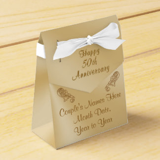 50th Wedding Anniversary Favor Boxes