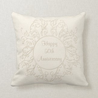 Personalized 50th Anniversary Pillow Couples NAMES