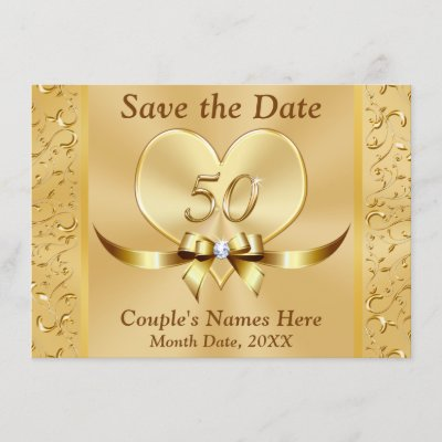 personalized 50th anniversary save the date cards zazzle com
