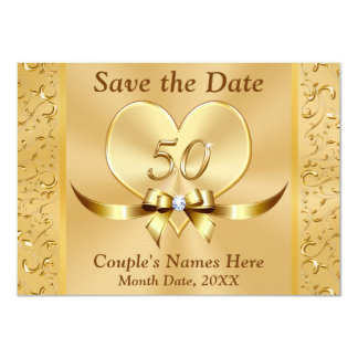 Personalized 50th Anniversary Save the Date Cards