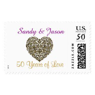 Personalized 50th Anniversary Stamps