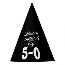 Personalized 50th Birthday Black White Paper Hat
