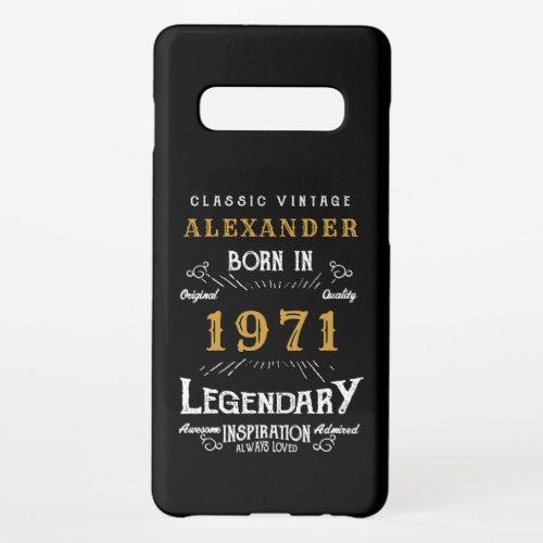 Personalized 50th Birthday Born 1971 Vintage Black Phone Case