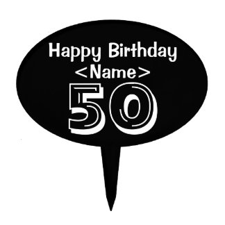 Personalized 50th Birthday Cake Topper Party