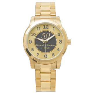 Personalized 50th Birthday Gift Ideas Women or Men Wrist Watch
