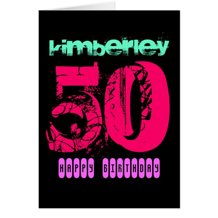 Personalized 50th Birthday Greeting Card