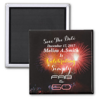 Personalized 50th Birthday Name & Date - Magnet